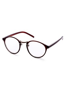 Brown Frame Clear Lens Glasses