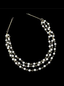 Multilayers Small Pearl Chain Hair Clip