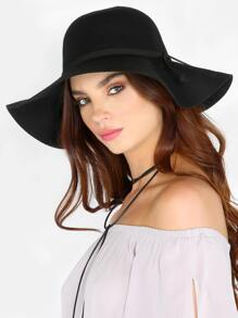 Floppy Wide Brim Wool Hat BLACK