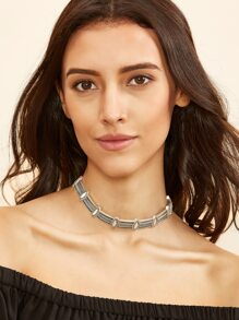 Antique Silver Boho Alloy Choker Necklace