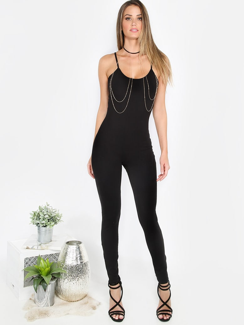 Black Spaghetti Strap Backless Skinny Jumpsuit mmcjumpsuit-p7789-black