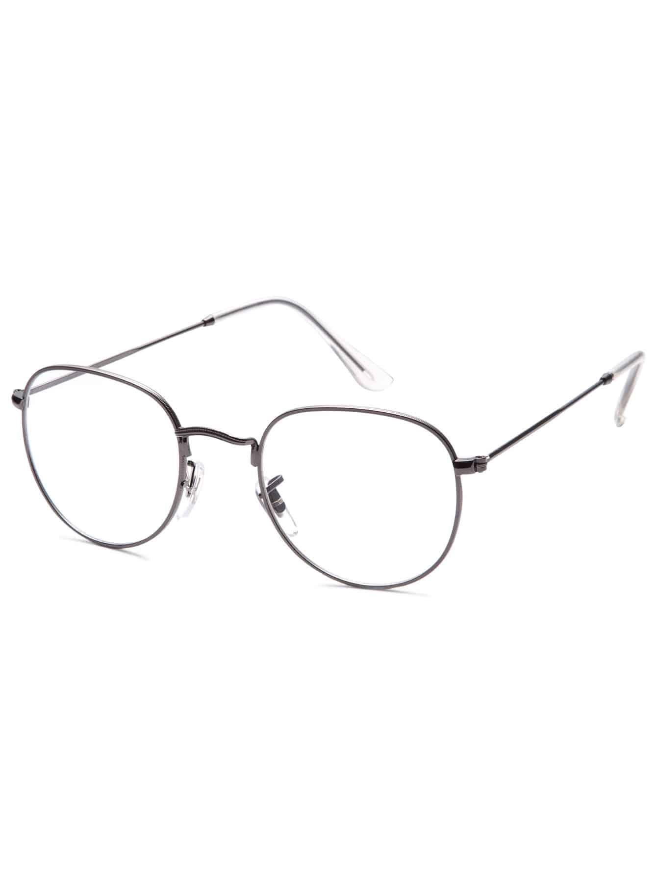 Фото Dark Grey Frame Clear Lens Glasses. Купить с доставкой