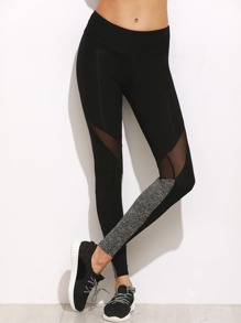 Leggings color-block avec insertion mesh