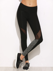Mesh Leggings -kontrastfarbe
