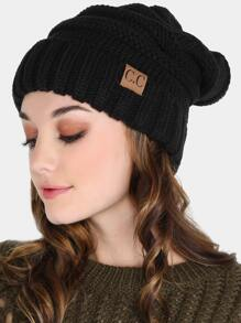 Cuffed Knit Beanie BLACK