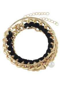 Collection de bracelet et chaîne - doré