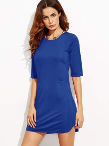 Royal Blue Elbow Sleeve Sheath Dress