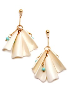 Gold Plated Acrylic Beaded Drop Earrings