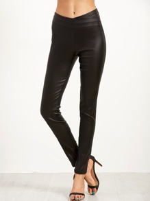 Black Faux Leather Skinny Pants