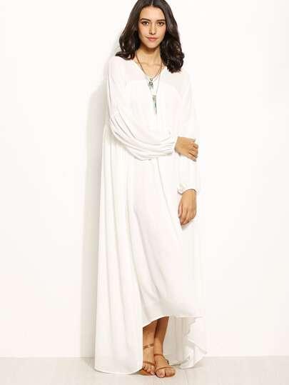 Kleid vorne kurz hinten lang mit armeln