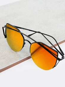 Metallic Crossbar Shades ORANGE
