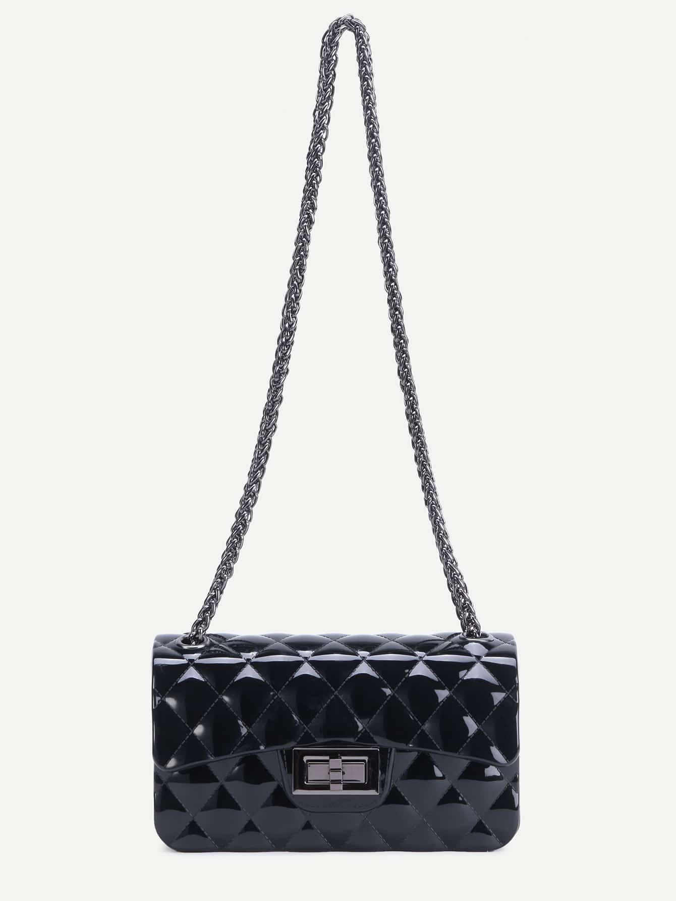 e0b190f3b Black Quilted Crossbody Bag With Chain | Stanford Center for ...