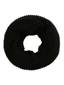 Black Ribbed Knit Infinity Scarf