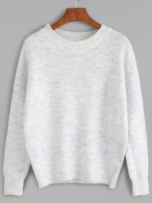 Drop Shoulder Jersey Sweater