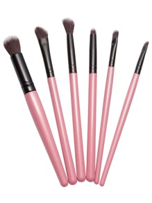 6PCS Pink Professional Makeup Brush Set