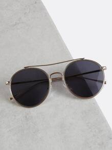 Metallic Crossbar Sunglasses GOLD