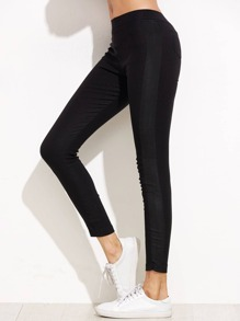 Black Simple Leggings