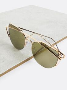 Crossbar Wayfarer Sunglasses OLIVE