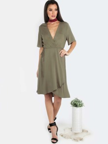 Wrap Up Dress OLIVE