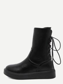 أسود جلد فو التعادل الجانبية عودة زيبر قصيرة أحذية