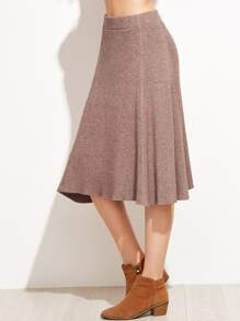 Circle Below The Knee Knit Skirt
