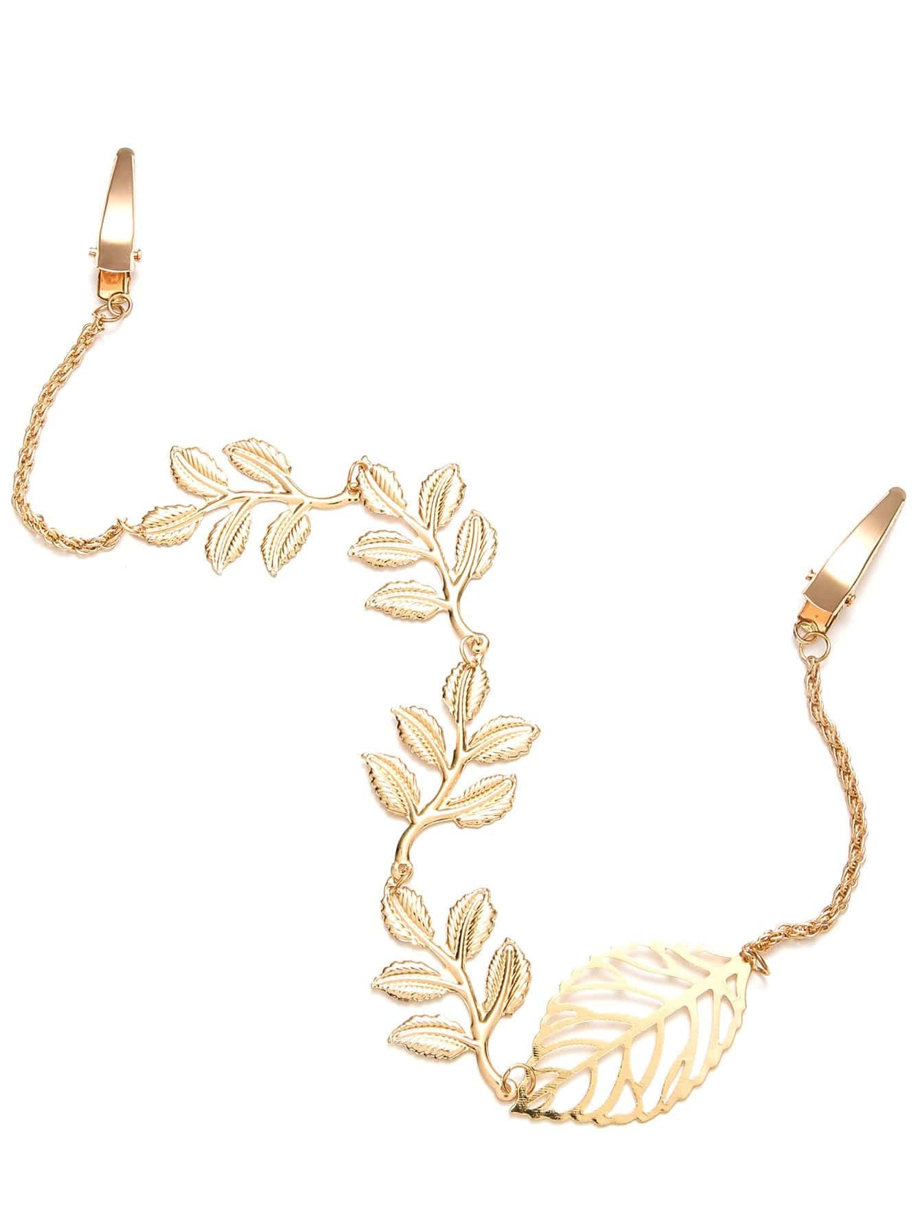 Фото Gold Plated Leaf Chain Hair Accessory. Купить с доставкой