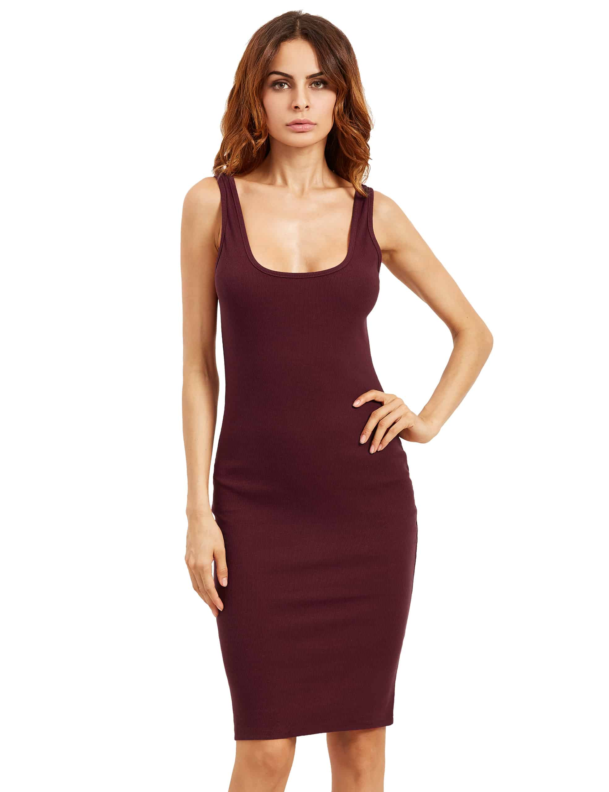 Double Scoop Tank Dress dress160808757