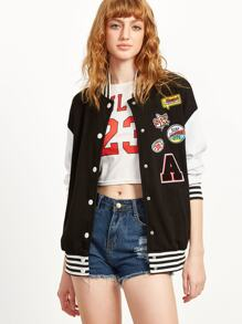 Black Badge Varsity Baseball Jacket