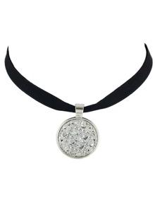 White Ribbon Choker Collar Necklace