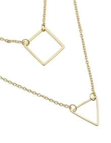 Gold Plated Double Layers Necklace