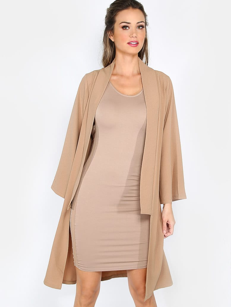 Camel Long Sleeve OuterwearCamel Long Sleeve Outerwear<br><br>color: Camel<br>size: L,M,S,XS