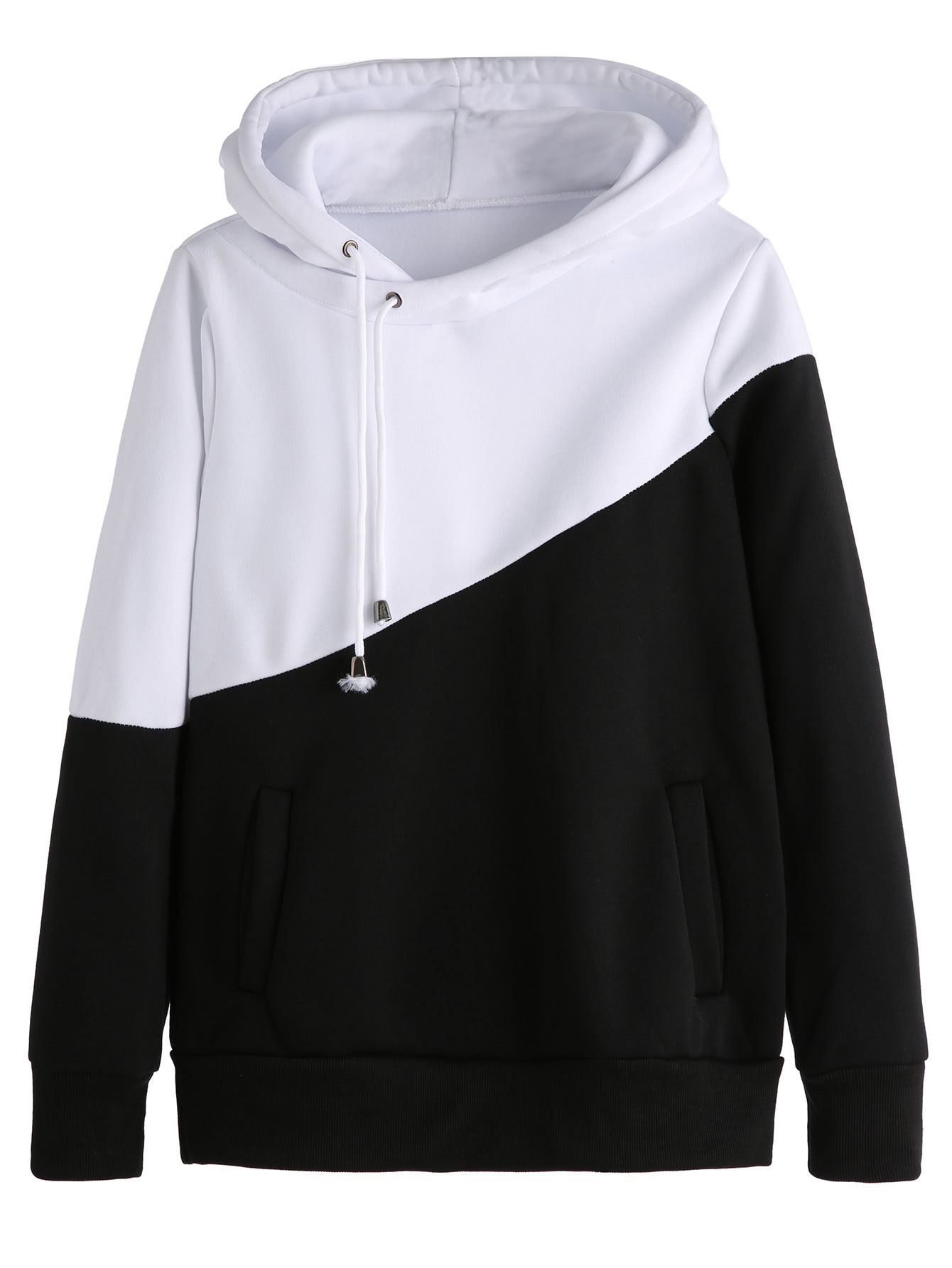 Color Block Cut And Sew Hoodie color block cut and sew hoodie