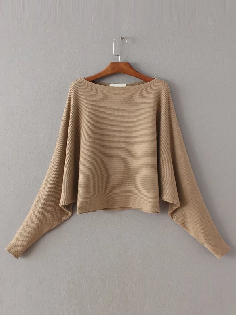 Boat neck Dolman Sleeve Sweater alfani new gold women s size medium m sequin dolman boat neck sweater $79 064