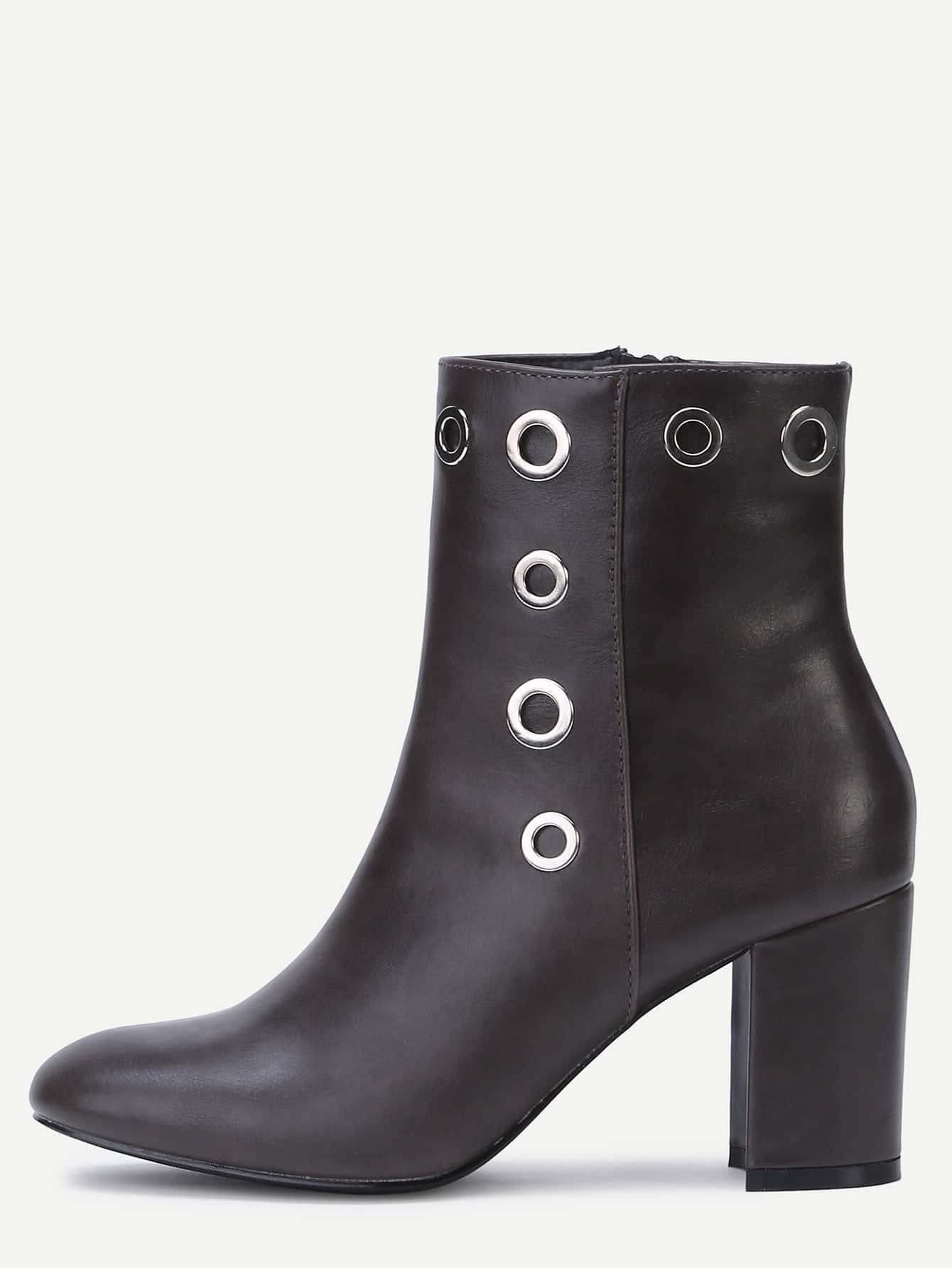 Brown PU Point Toe Chunky BootsBrown PU Point Toe Chunky Boots<br><br>color: Brown<br>size: EUR39