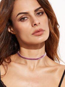 Purple Velvet Choker Necklace