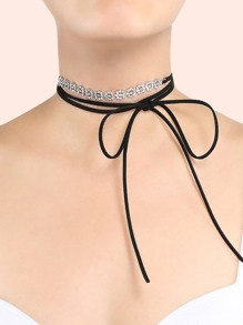 Floral Layered Wrap Choker SILVER
