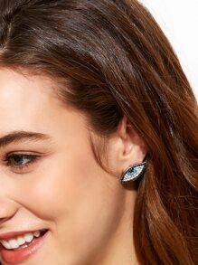 Rhinestone Eye Shaped Stud Earrings