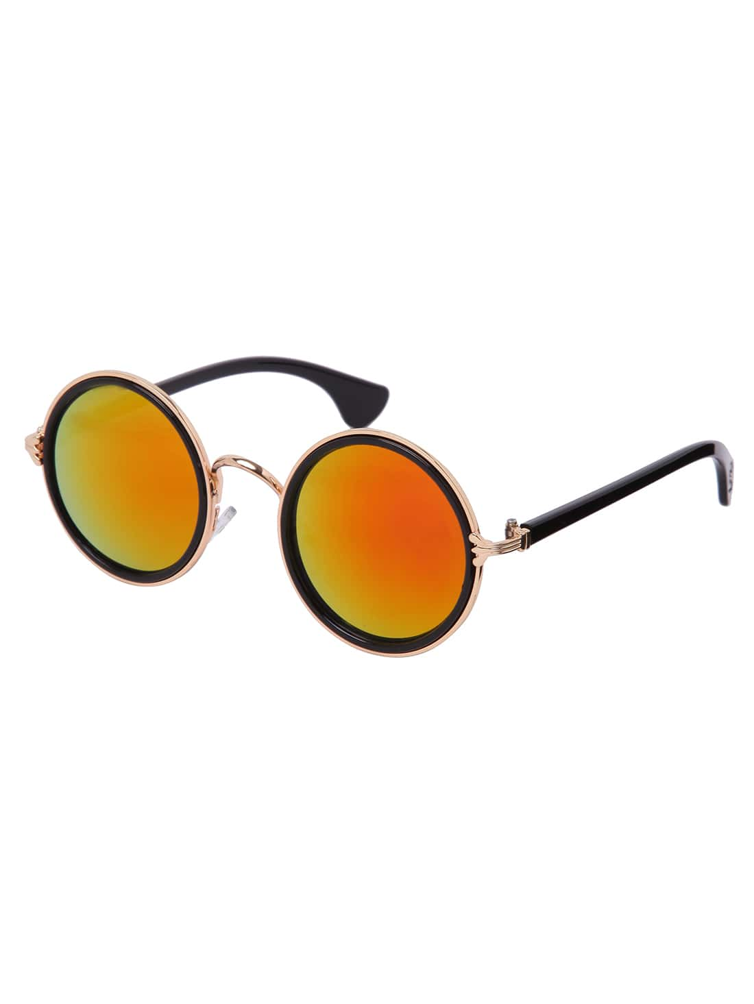Gold Frame Round Red Lens Retro Style SunglassesGold Frame Round Red Lens Retro Style Sunglasses<br><br>color: Red<br>size: None