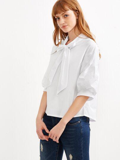 Белые Блузки С Жабо В Омске