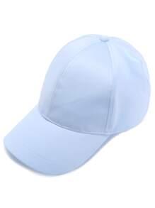 Casquette base-ball en satin - bleu clair