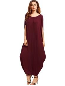 Dolman Sleeve Cocoon Dress