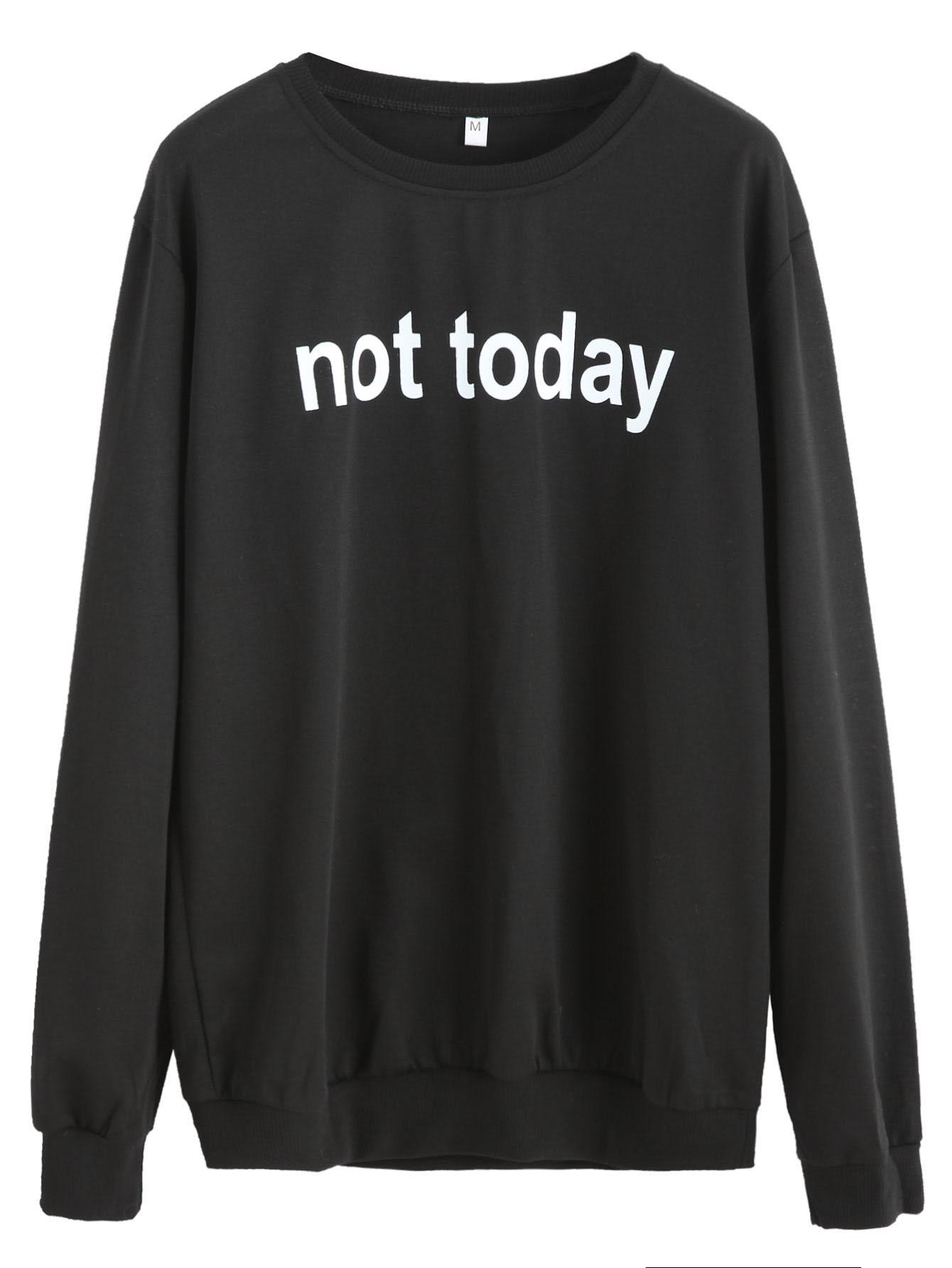Фото Slogan Print Casual Sweatshirt. Купить с доставкой