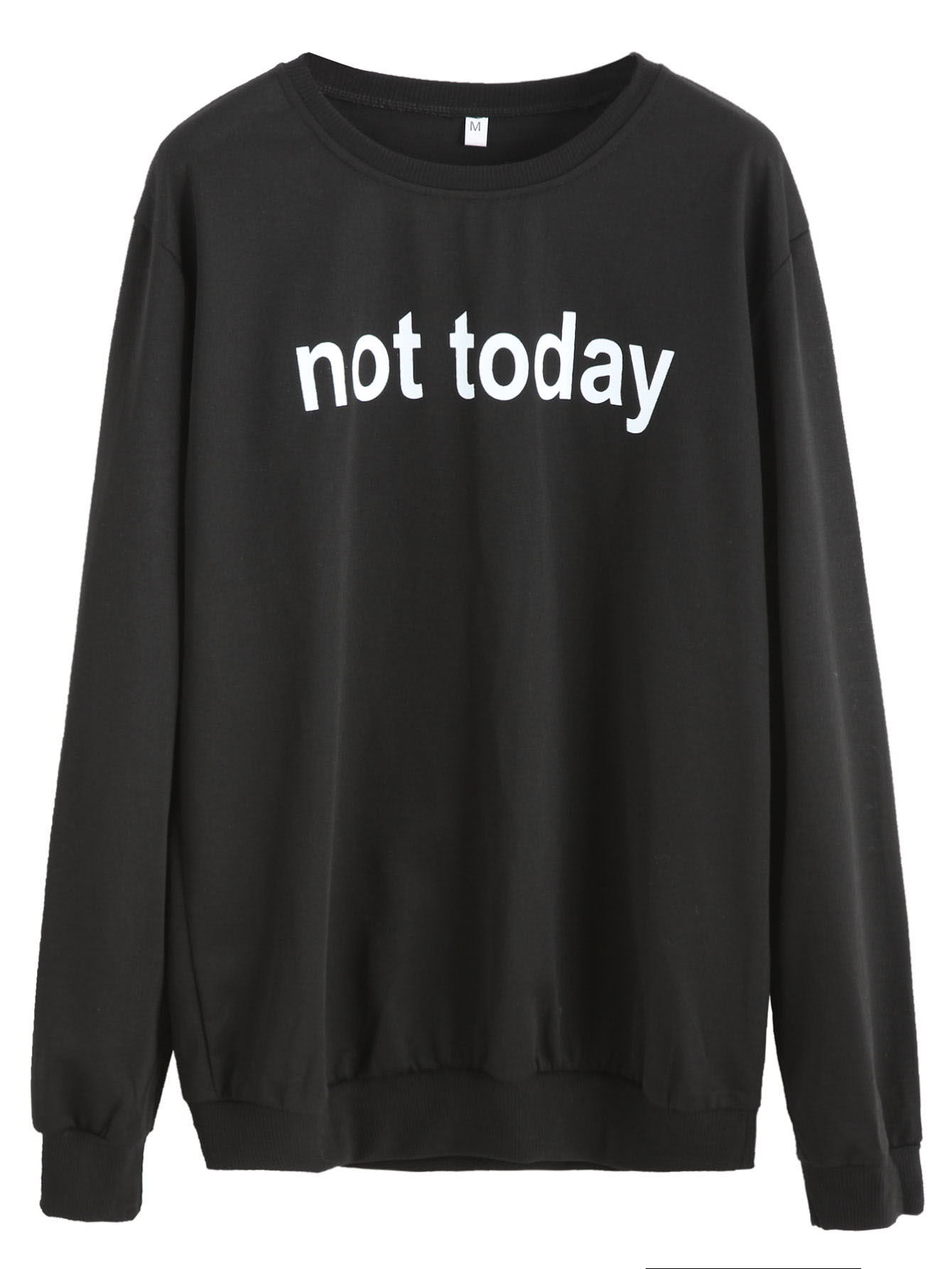 Slogan Print Casual Sweatshirt