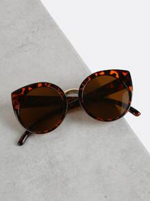 Tortoise Shell Cat Eye Sunglasses LEOPARD
