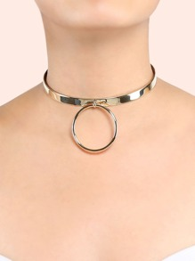 Metallic Ring Choker GOLD
