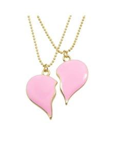 Broken Heart Pendant Necklace