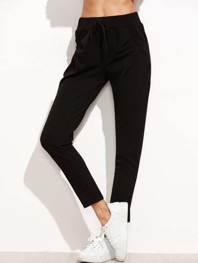 Drawstring Ankle Pants