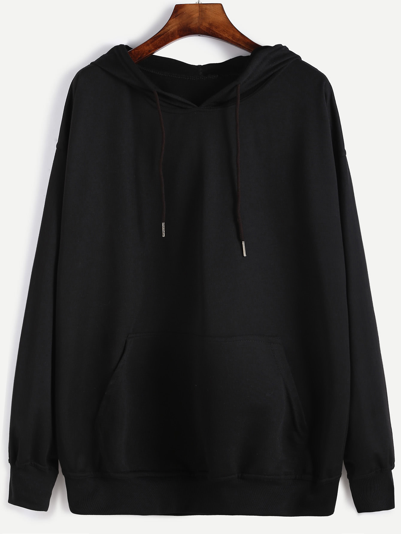 Drop Shoulder Hooded Sweatshirt drop shoulder ripped hooded crop sweatshirt