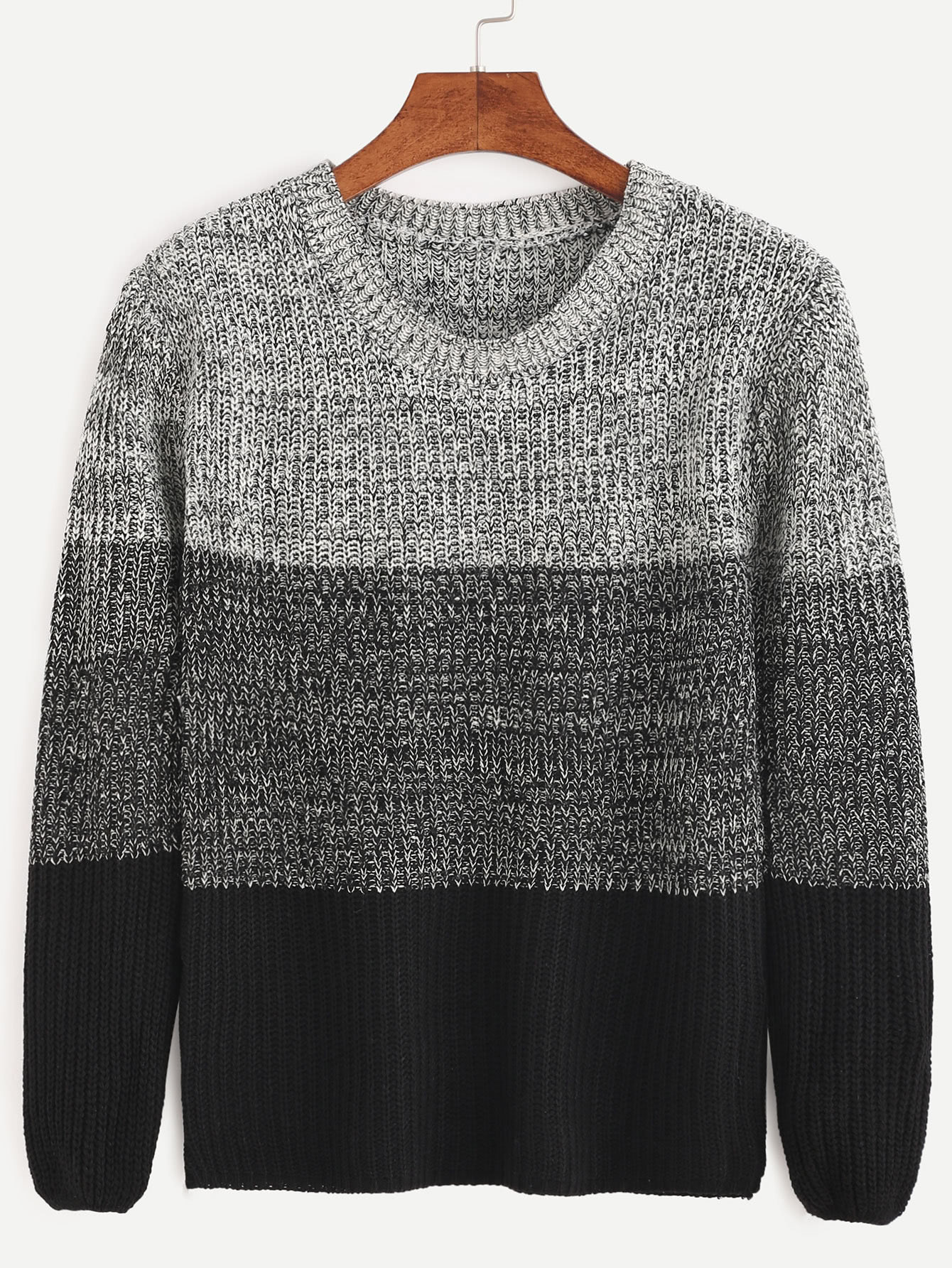 Color Block Fitted Sweater sweater160920101