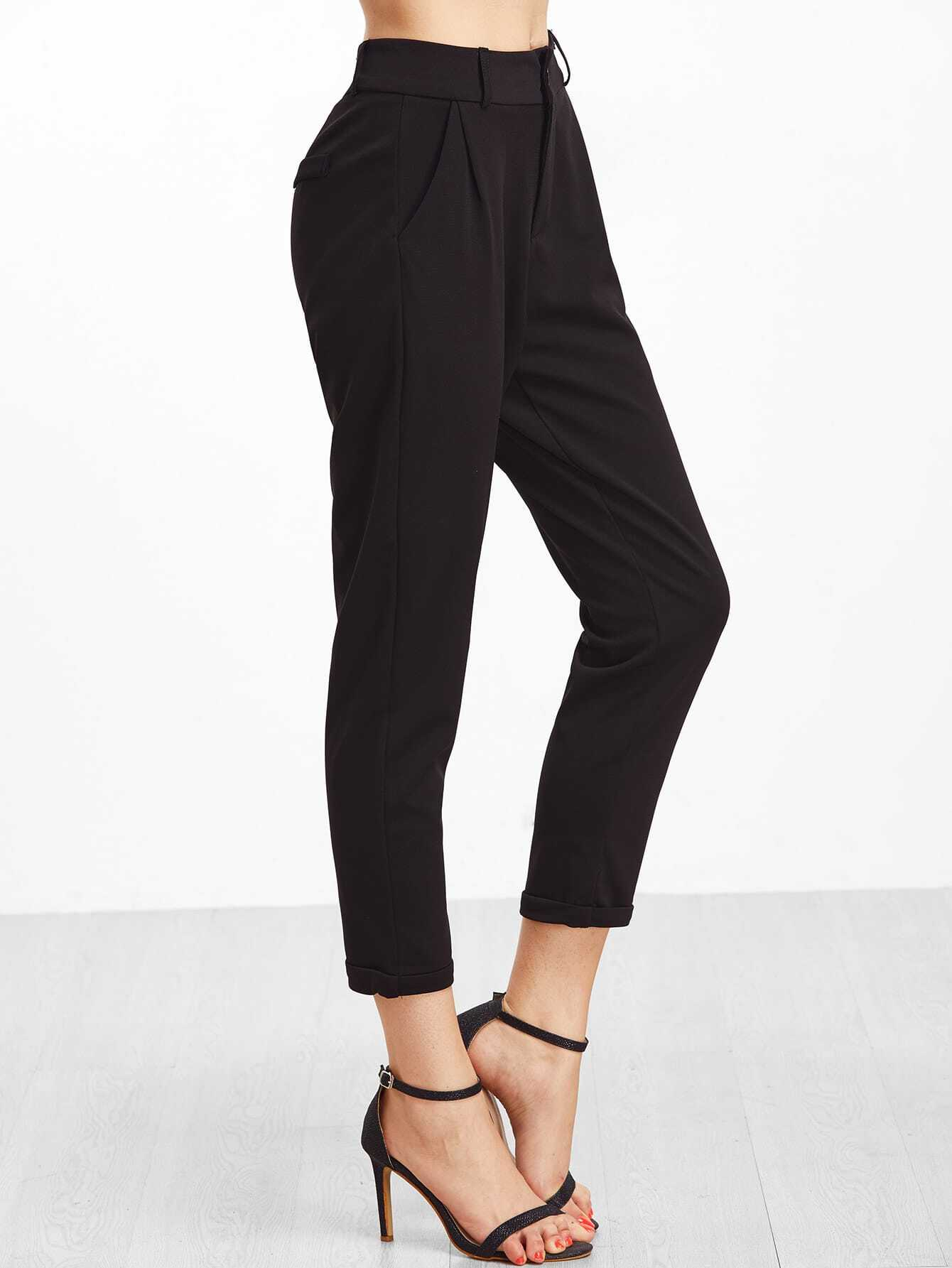 Image of Cuffed Tapered Pants
